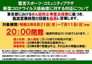新型コロナ_鷺宮(6.21~蔓延防止)のサムネイル